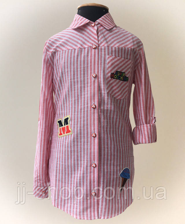 Рубашка детская для девочки молодежная