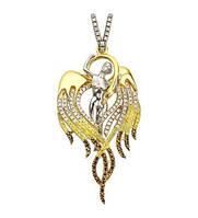 Подвеска золотая Ангел вес 9,53 грамм