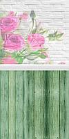 Двойной Фотофон розы  размер 50*100 см