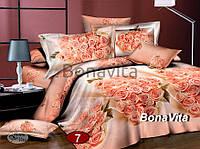 Двухспальный комплект постельного белья Сатин №7