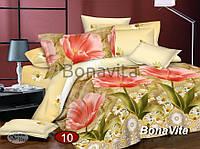 Двухспальный комплект постельного белья Сатин №10