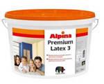 Матовая стойкая латексная краска ALPINA Premiumlatex 3 B1 10 л.