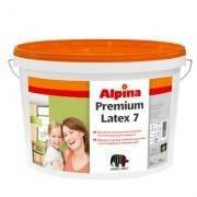 Шелков.-матовая латексная краска ALPINA Premiumlatex 7 B1 10 л.