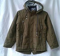 Куртка демисезонная подростковая для мальчика 10-15 лет,хаки