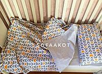 Комплект детского постельного белья. Хлопок