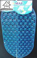 Силиконовый антискользящий коврик в ванную 056