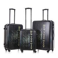 Набор чемоданов 3 в 1 David Jones 91074  New York City 91074