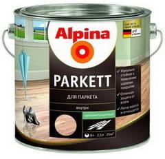 Лак Alpina Parkett SM шелковисто-матовый 0.75 л