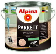 Лак Alpina Parkett SM шелковисто-матовый 2,5 л