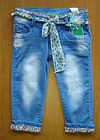 Капри летние джинсовые Seagull для девочки.