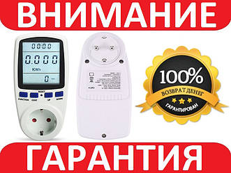 Розетка энергометр, ваттметр, вольтметр, амперметр, счетчик энергии