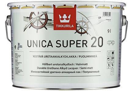 Лак Unica Super Tikkurila для дерева Уника Супер, 9 л полумат