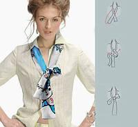 Как завязать платок или шарфик? Смотрите оригинальные способы!