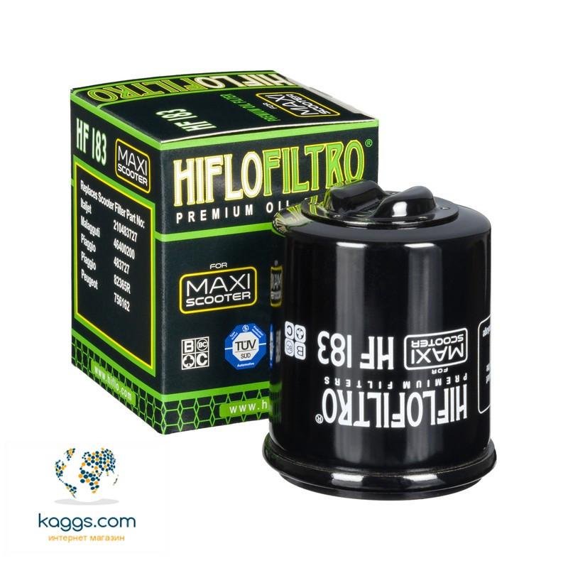Масляный фильтр Hiflo HF183 для Adiva, Aprilia, Benelli, Derbi, Gilera, Italjet, Malaguti, Peugeot, Piaggio.