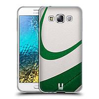 Силиконовый чехол для Samsung Galaxy E5 узор Мяч для пляжного волейбола