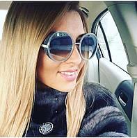 Стильные женские очки круглые Jimmy Choo серые новинка 2017