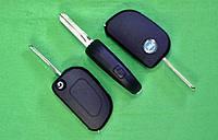 Fiat - корпус выкидного ключа 1 кнопка сбоку, GT10