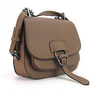 Коричневая маленькая сумка кросс-боди овальная, фото 1