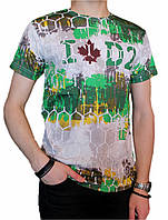 Мужская футболка №3445 зеленая