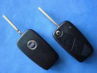 Fiat - корпус выкидного ключа 3 кнопки, SIP22 (чёрный)