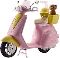 Мопед скутер Барби Barbie Scooter со щенком DVX56