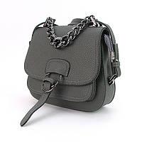 Серая маленькая сумка кросс-боди с клапаном