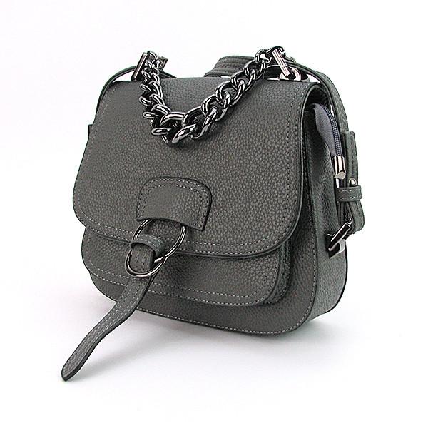 6e5239f3b63d Серая маленькая сумка кросс-боди с клапаном - Интернет магазин сумок  SUMKOFF - женские и