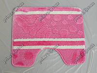 """Коврик для туалета 60х50 см """"Морское дно"""" с вырезом, цвет розовый"""