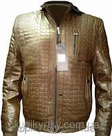 Утепленная мужская куртка из кож-винила