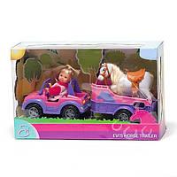 Кукла Эви и джип с трейлером и конем Simba (5737460), фото 1