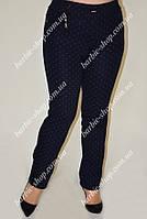 Молодежные женские брюки в горошек 0287