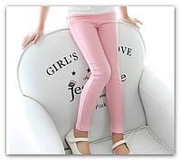 Джинсы для девочек розовые на рост 110-115м