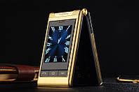 Раскладушка G10 с 2 дисплеями и усиленой батареей Gold(золотой), фото 1