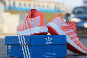 Кроссовки женские Adidas Bounce,беговые,коралловые, фото 3
