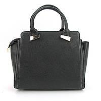 Молодежная средняя сумка черная трапеция D&K