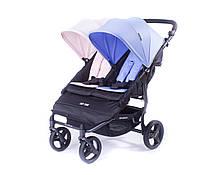 Прогулочная коляска для двойни Baby Monsters Easy-Twin Two Colours 2017