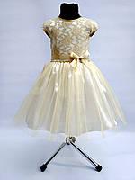 Детское нарядное выпускное платье с цветком, фото 1