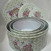 Набор металлических шкатулок из 3 штук круглой формы, фото 1