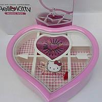 """Шкатулка детская музыкальная """" Hello Kitty"""" в форме сердца"""