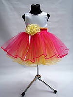 Детское нарядное выпускное платье с цветком