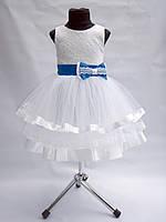Детское нарядное выпускное платье с бантиком, фото 1
