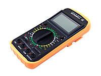 Профессиональный цифровой мультиметр тестер DT-9207А/9208А Качество! + щупы + термопара + крона!, Хит продаж