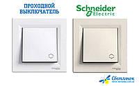 Переключатель (проходной выключатель) одноклавишный 10А Schneider Electric ASFORA