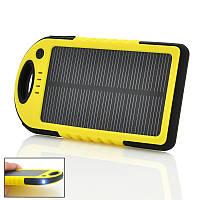Солнечное портативное зарядное устройство POWER BANK 10000mAh защищённое!, Хит продаж