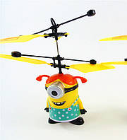Летающий миньон - девочка, интерактивная игрушка - вертолёт, Хит продаж