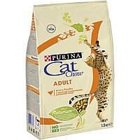 Cat Chow Adult корм для взрослых кошек с курицей и индейкой, 15 кг