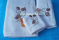 Набор махровых полотенец Philippus 3 шт, Турция, белый цвет