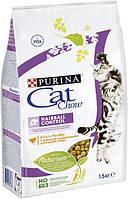 Cat Chow Hairball Control корм для кошек для выведения комочков шерсти, 1.5 кг