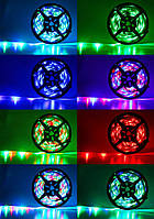 Светодиодная лента (в силиконе) RGB 3528 5 метров+пульт+контроллер+блок питания, LED лента многоцветная, Хит продаж