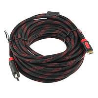 Кабель HDMI - HDMI 10 метров, усиленная обмотка, качественная передача данных, Хит продаж